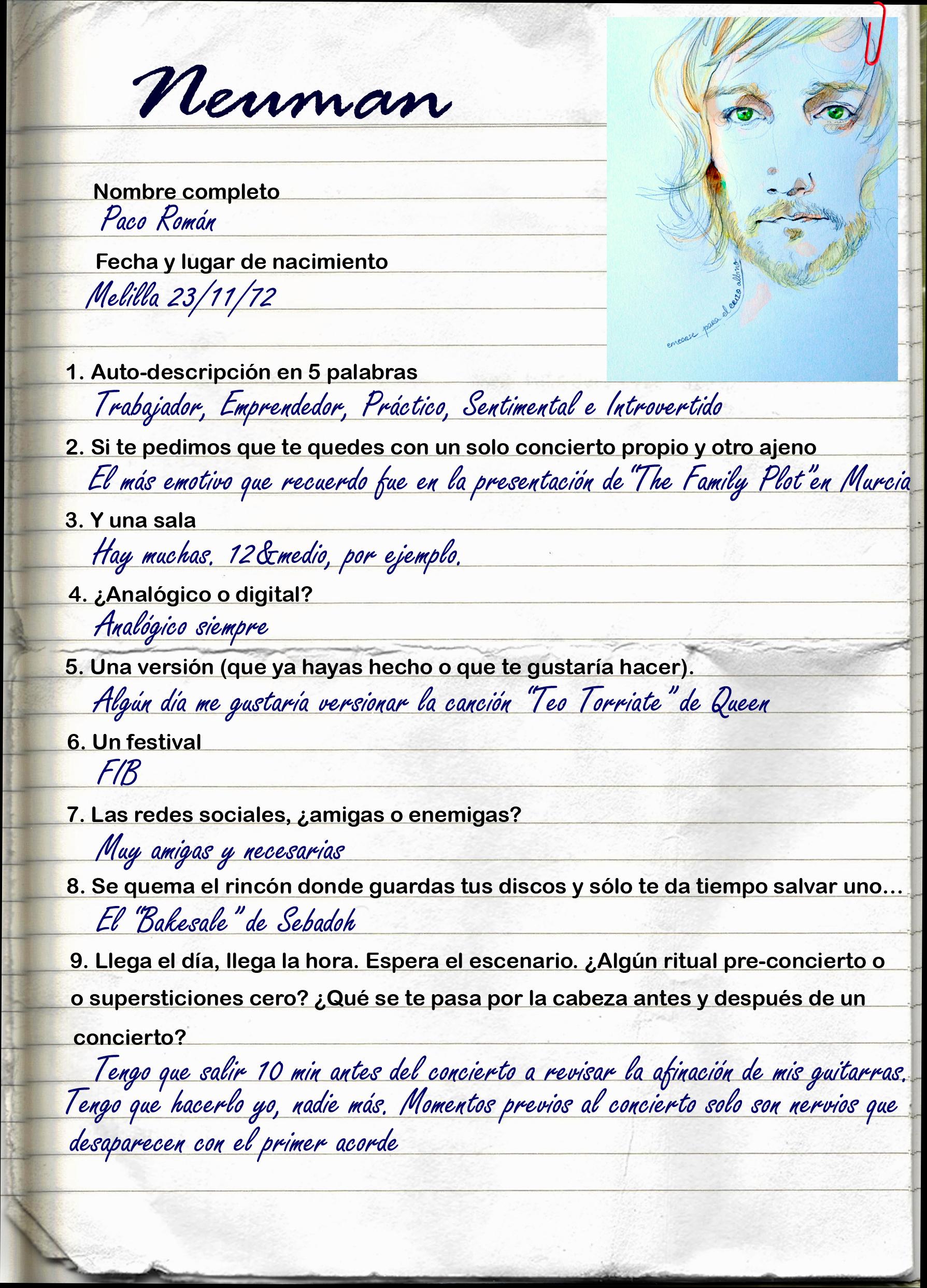 Auto Retratos 10 Neuman El Erizo Albino