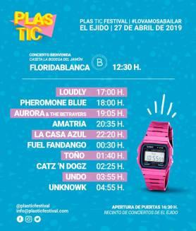 horarios plastic 2019